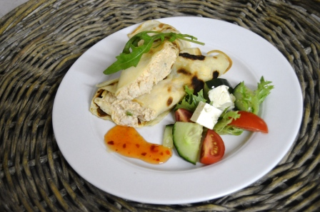 Chicken Crepes with Side Salad